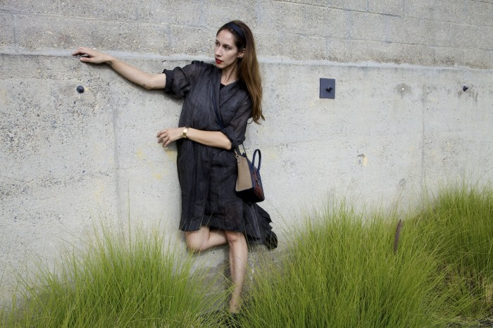 elizabeth james evona ewrap dress celine bag fashion blog