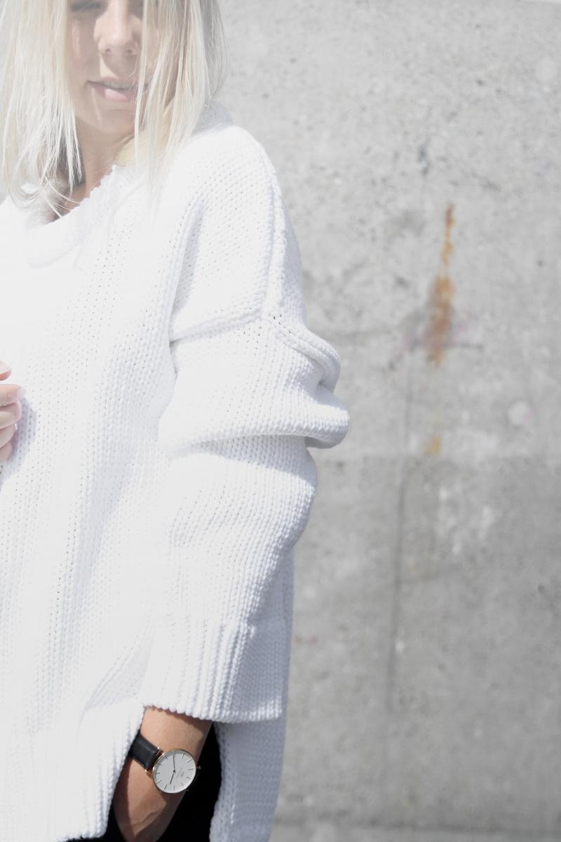 daniel wellington watch classic shefield white knit zara tao of sophia