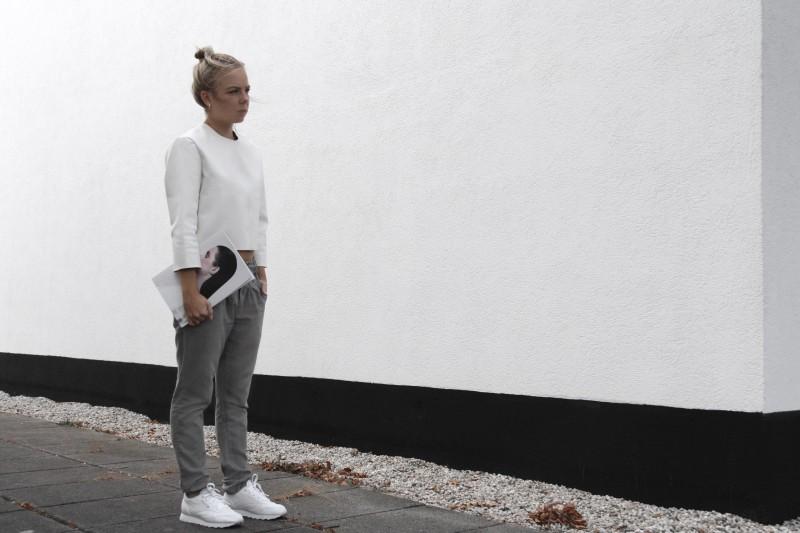 minimal boxy shape reebok classic leather minimalism blog