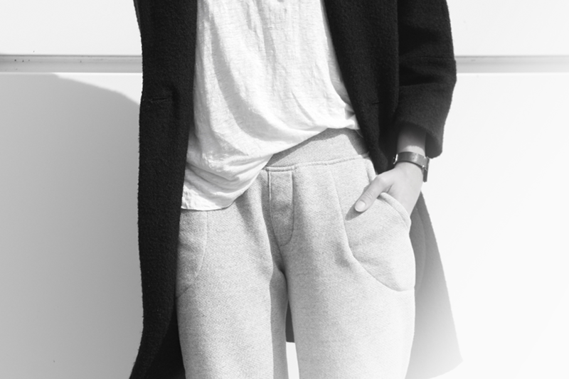 alternative apparel jogging pants terry jogger pants detail shot outfit