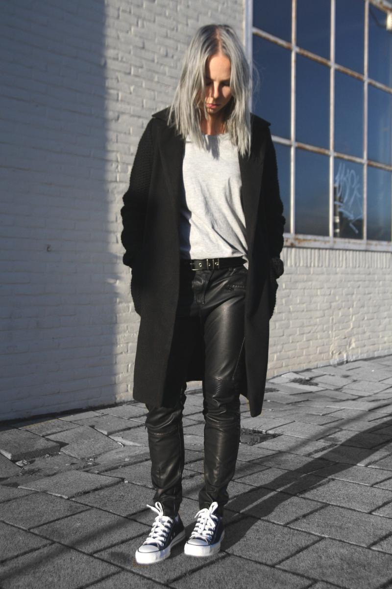 biker-leather-pants_blue-grey-hair_black-all-stars