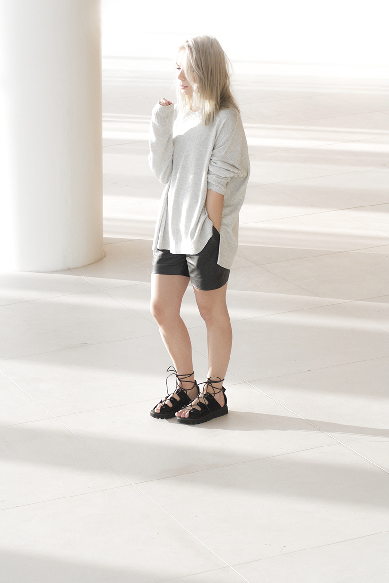 blessed-are-the-meek-leather-shorts_asos-lace-sandals_minimal-fashion