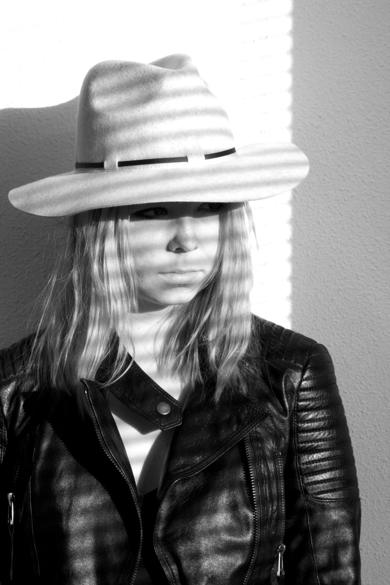 creme-hat-asos_biker-jacket_shadow-photography