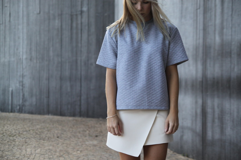 grey quilted sweater minimalism fashion sao paulo Tao of Sophia