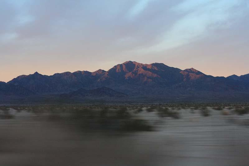 sunset arizona california roadtrip