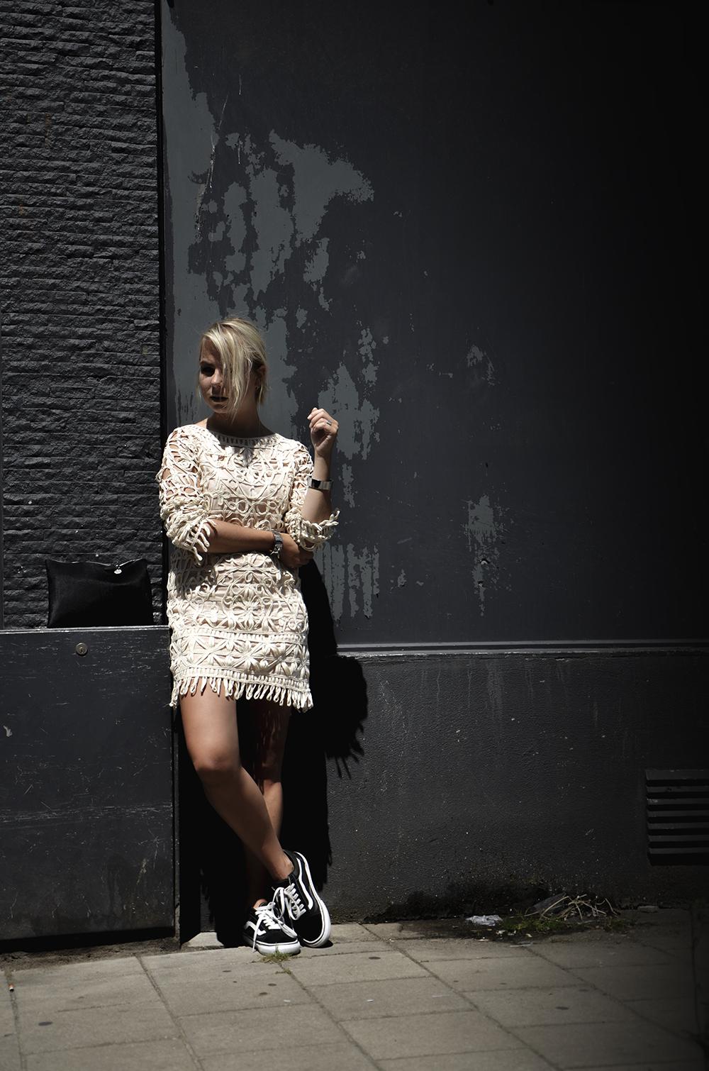 39a878e3433 boho chic outfit thpshop boundcuffs vans oldskool mango dress